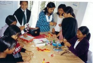 Socio-economic Handicrafts project- FabricFlowermaking-semi-urban